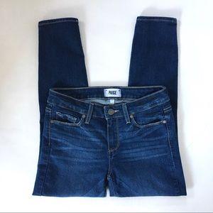 Paige Verdugo Crop Medium Wash Skinny Jeans